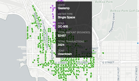 City of San go Open Data Portal Dc Parking Meter Map on